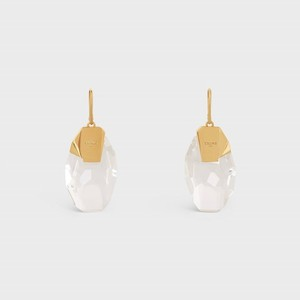 Grands Volumes Celine Diamente Earrings in Brass with Gold finish and Crystal - 부루 구매대행
