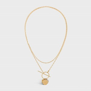 Celine Composition Necklace in Brass Bi-Galva with Gold and Rhodium finish - 부루 구매대행