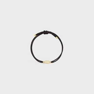 Celine Maillon Triomphe Beach Bracelet in Brass with Gold Finish and Polyester - 부루 구매대행