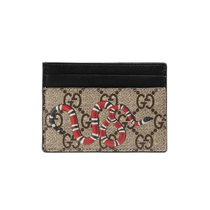 Gucci Kingsnake print GG Supreme card case 451277 - 부루 구매대행