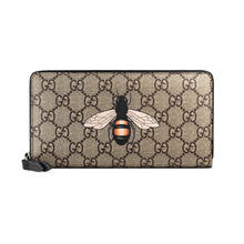 Gucci Bee print GG Supreme zip around wallet 451273 - 부루 구매대행