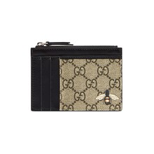 Gucci Bee print GG Supreme card case 597555 - 부루 구매대행